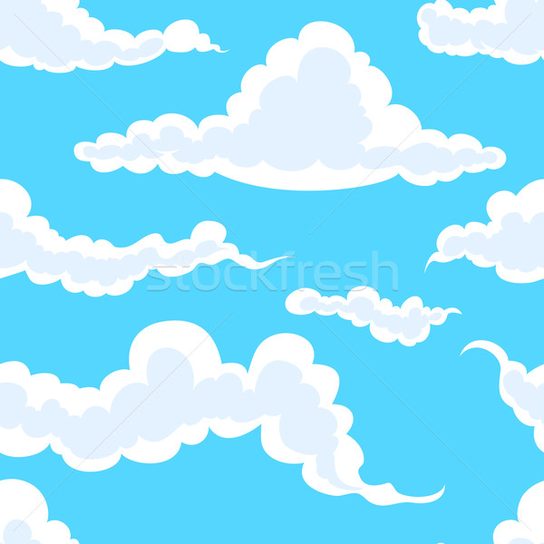 clouds in sky seamless Stock photo © vectorArta