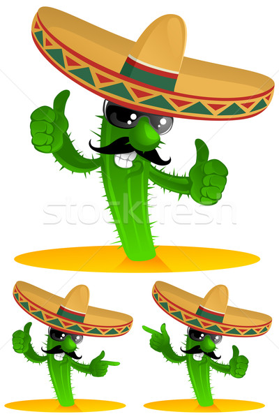 three cactus Stock photo © vectorArta