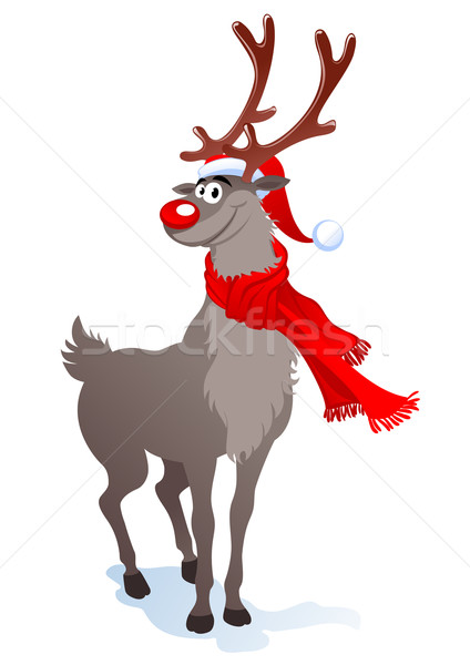 Happy reindeer Stock photo © vectorArta