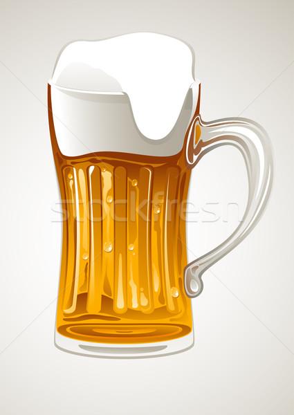 Mug oro birra fresche vetro arte Foto d'archivio © vectorArta