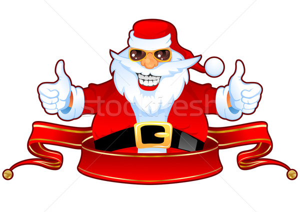 Cool Santa and Banner Stock photo © vectorArta