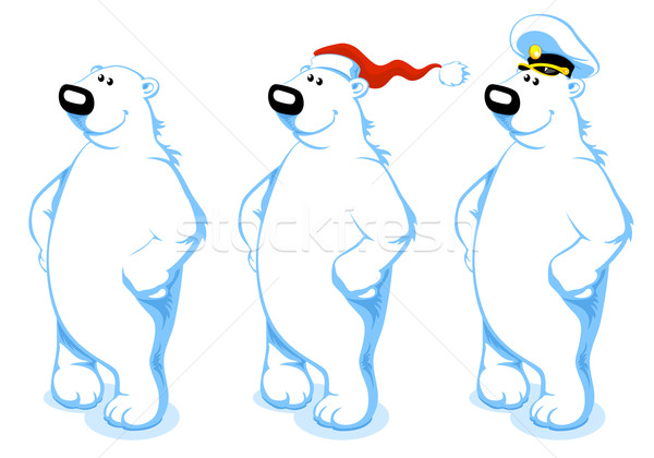 Cartoon Polar Bear Stock photo © vectorArta