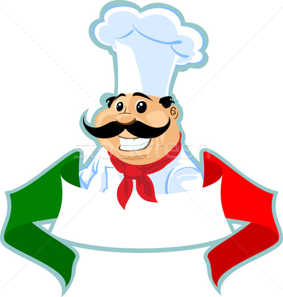 Italiano chef cocinar etiqueta colores banner Foto stock © vectorArta