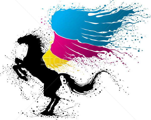 CMYK pegasus Stock photo © vectorArta