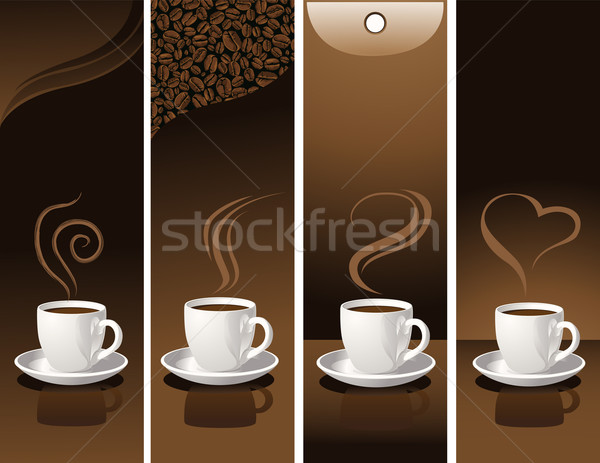 banners with coffee cups Stock photo © vectorArta