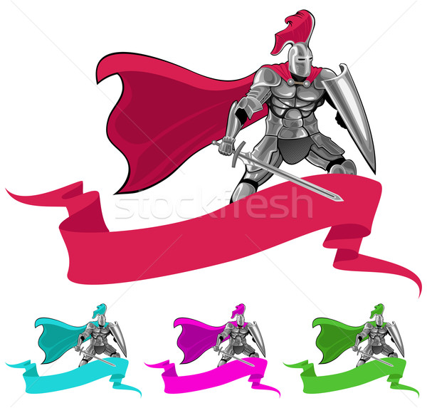 knight and banner Stock photo © vectorArta