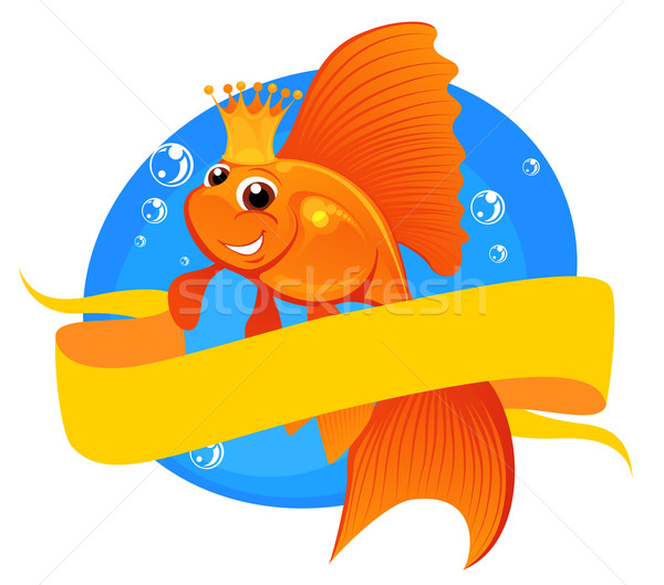 Goldfish and banner Stock photo © vectorArta