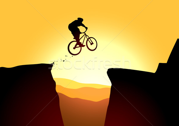 Extreme jump Stock photo © vectorArta