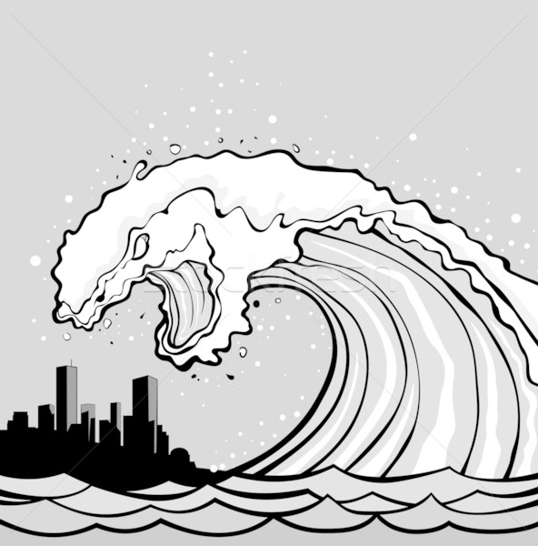 tsunami monster Stock photo © vectorArta