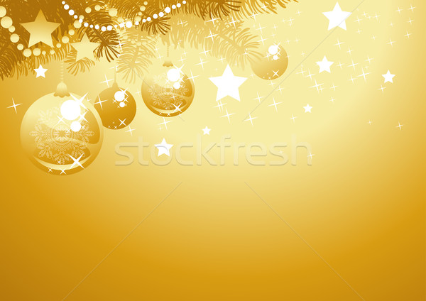 Gold christmas background Stock photo © vectorArta