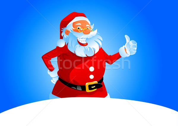Santa show thumb up Stock photo © vectorArta