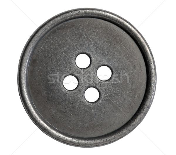 Métal bouton isolé chemin blanche rétro Photo stock © Vectorex