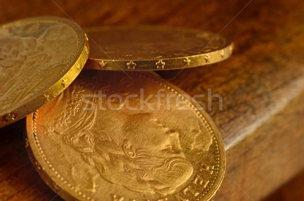 Kevés arany érmék utolsó csoport siker Stock fotó © Vectorex