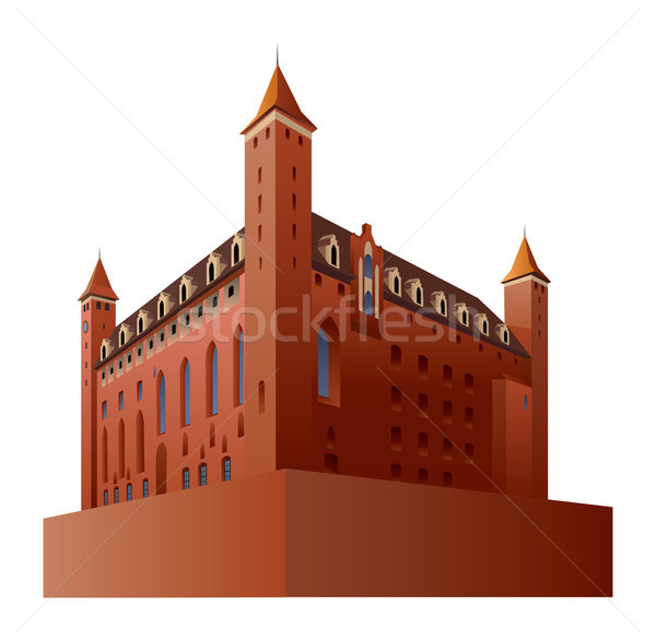 Gothic castle Stock photo © Vectorex