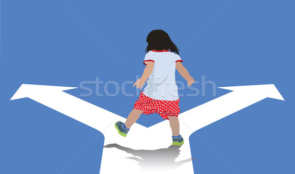 Választás kicsi gyermek sétál választ saját Stock fotó © Vectorex