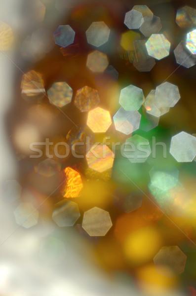 Noël lumières soft lentille sur accent Photo stock © Vectorex