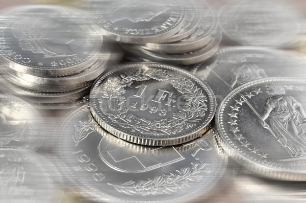 érmék közelkép egy érme fókusz háttér Stock fotó © Vectorex