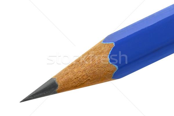 Kék ceruza éles fából készült izolált út Stock fotó © Vectorex
