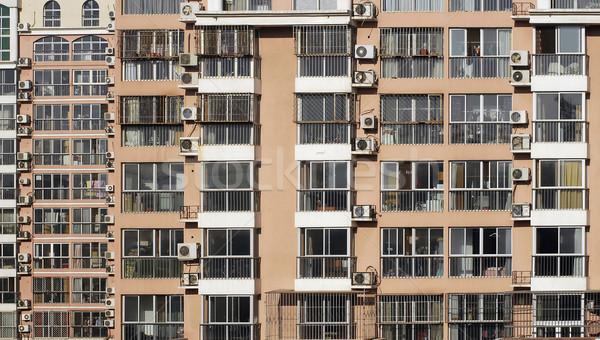 Vie Pékin résidentiel bâtiment façade air Photo stock © Vectorex