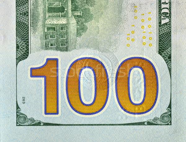 Dollár hát új néz száz számla Stock fotó © Vectorex