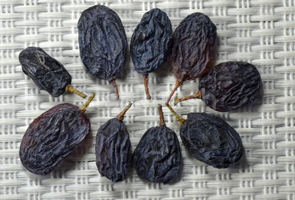 Sécher raisins groupe lumière gris alimentaire Photo stock © Vectorex