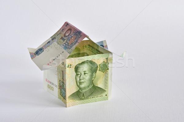 Ház kínai papír épület modell otthon Stock fotó © Vectorex