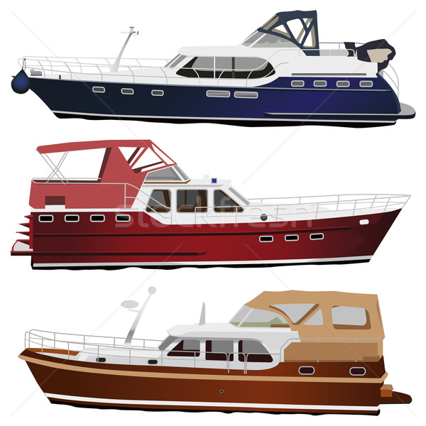 Motor yachts Stock photo © Vectorex