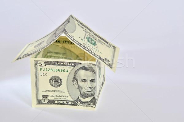 Dollár ház amerikai bankjegyek épület építkezés Stock fotó © Vectorex