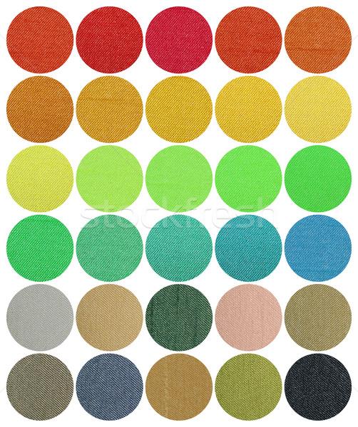 Szövetek szín diagram forma textil divat Stock fotó © Vectorex