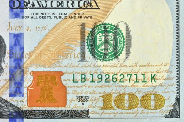 Száz amerikai dollár makró kép új Stock fotó © Vectorex