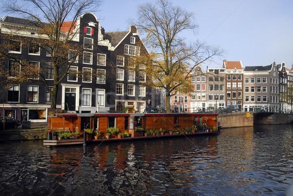 Amsterdam vie bateaux eau canal ville Photo stock © Vectorex