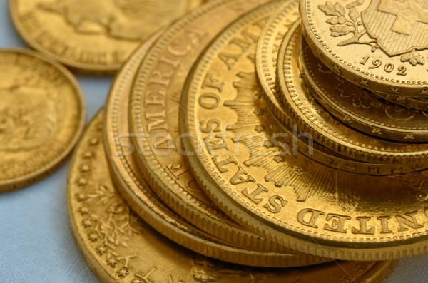Or vieux or pièces Photo stock © Vectorex