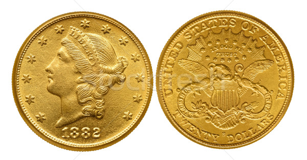 Twenty dollars gold coin from 1882 Stock photo © Vectorex
