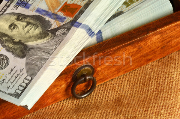 Dollars bois tiroir papier Photo stock © Vectorex