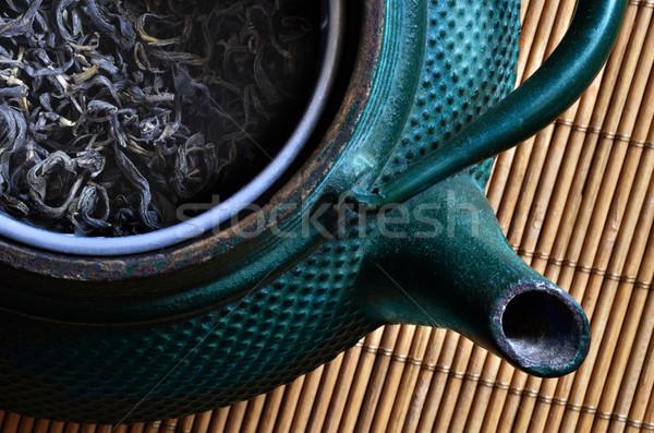 Tea edény távolkeleti száraz bent csendélet Stock fotó © Vectorex