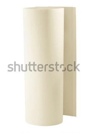 Beige papier rouler artistique art dessin Photo stock © Vectorex