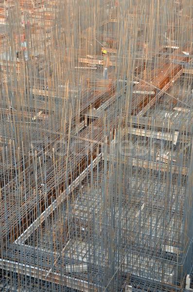 Edificio base hierro elementos trabajo progreso Foto stock © Vectorex