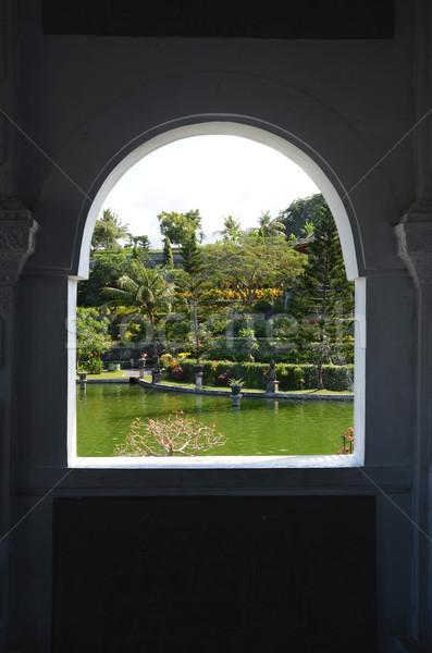 Bali kilátás ablak sziget természet zöld Stock fotó © Vectorex