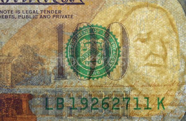 Dólar filigrana nuevos cien proyecto de ley dinero Foto stock © Vectorex