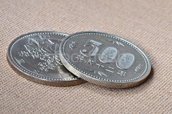 Kettő 500 japán yen érmék távolkeleti Stock fotó © Vectorex