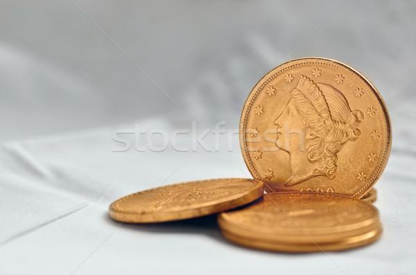 Golden dollar coins from 1900 Stock photo © Vectorex