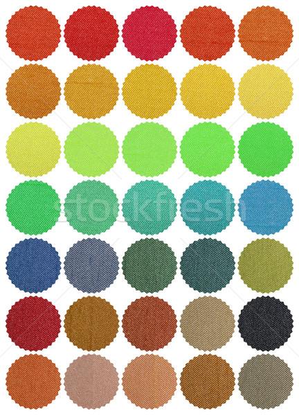 Textil szín diagram formák fehér absztrakt Stock fotó © Vectorex