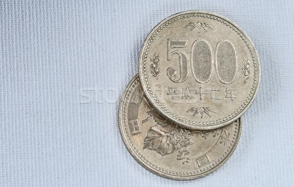 Japán érmék öt száz yen papír Stock fotó © Vectorex