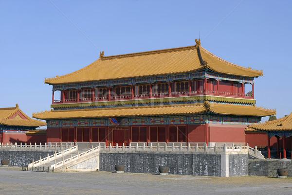 Reggel tiltott város történelmi múzeum központ Peking Stock fotó © Vectorex