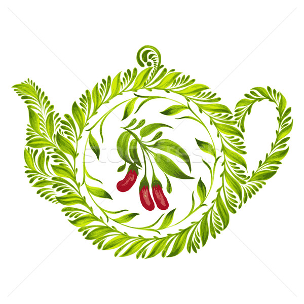 decorative ornament teapot Stock photo © VectorFlover