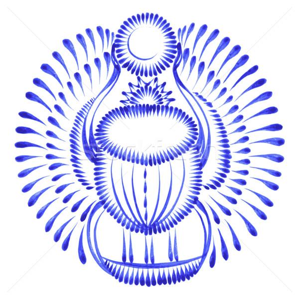 Decoratief ornament scarabee kever Egypte Stockfoto © VectorFlover