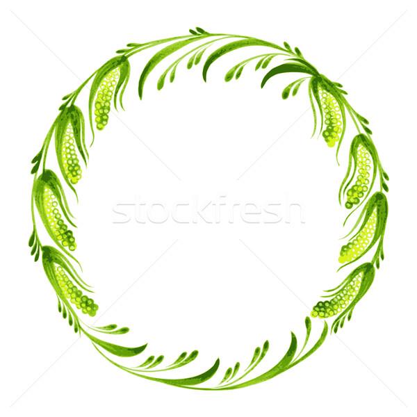 Decorativo ramo bichano salgueiro ilustração Foto stock © VectorFlover