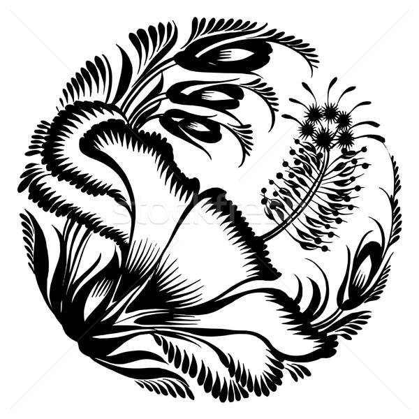 decorative silhouette hibiscus Stock photo © VectorFlover