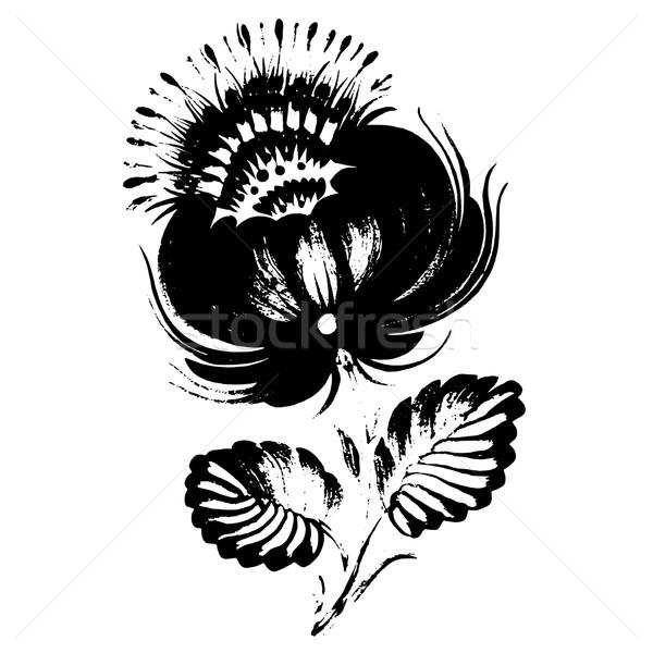 ornamental silhouette Stock photo © VectorFlover