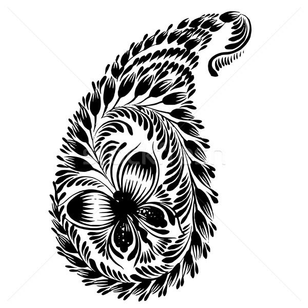 装飾的な シルエット フローラル ベクトル 芸術的 グランジ ストックフォト © VectorFlover